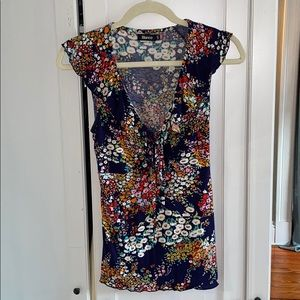 BLANCO Floral Tie Back Tank Top size 8
